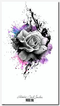 Disney tattoo - gray rose and colorful colors rose tattoo template idea for a tattoo for . - Disney Tattoo – gray rose and colorful colors rose tattoo template idea for a tattoo for… – T - Trendy Tattoos, Love Tattoos, Beautiful Tattoos, Body Art Tattoos, New Tattoos, Tatoos, Zodiac Tattoos, Tattoos Of Roses, Black Rose Tattoos