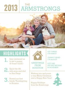 Presentable Blog  Year In Review Christmas Card  Design