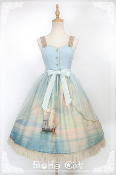 Bohe Cat -The Ancient Voyage- Pirate Lolita Vintage Classic Lolita JSK,Lolita Dresses, Cosplay Outfits, Dress Outfits, Casual Dresses, Short Dresses, Fashion Dresses, Kawaii Fashion, Lolita Fashion, Cute Fashion, Beautiful Prom Dresses