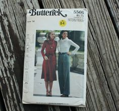Butterick 5566 1970s 70s Top Skirt Pants by EleanorMeriwether