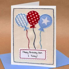 Polkadots belated birthday card belated birthday messages balloons handmade boys birthday card bookmarktalkfo Image collections