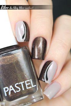 beautiful gradient idea with drops nail art