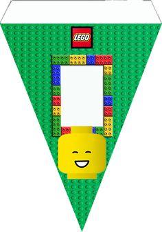 """Kit de Aniversário Digital Tema """"Lego"""" para Imprimir - Convites Digitais Simples"""