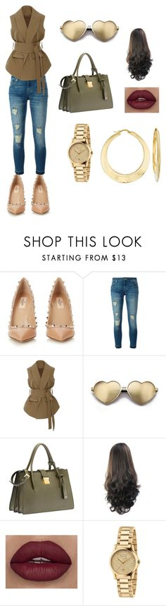 """""""#Olive"""" by seldy-enes ❤ liked on Polyvore featuring Valentino, MICHAEL Michael Kors, Rosie Assoulin, Wildfox, Miu Miu, Gucci and Ross-Simons"""