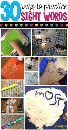 We have complied some of our favorite ways to practice sight words!  If you have any more great ideas share them in the comments!Students write the words under the first flap and then practice the wor