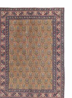 A TABRIZ CARPET NORTH WEST PERSIA, CIRCA 1910 Estimate  GBP 1,000 - GBP 1,500 (USD 1,291 - USD 1,936)