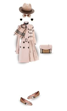 """Pink Plaid"" by onesweetthing ❤ liked on Polyvore featuring Burberry and Mallary Marks"