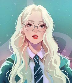 New Glasses Girl Illustration Ideas 48 Ideas Harry Potter Drawings, Harry Potter Anime, Harry Potter Fan Art, Desenhos Harry Potter, Anime Art Girl, Anime Girls, Manga Girl, Cartoon Art, Cute Drawings