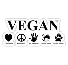 Go Vegan Stickers