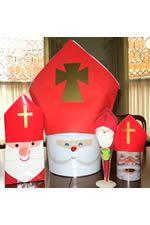 "How to craft a miter to transform ""Santa"" into St. Nicholas!"