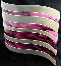 Cool fused glass, I might have to try this one.