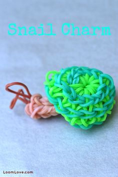 How to Make a Rainbow Loom Snail Charm #RainbowLoom