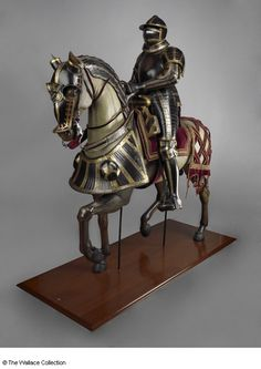 Equestrian armor - Hans Ringler, Nuremberg, Germany c. Horse Armor, Arm Armor, Horse And Human, Military Armor, Medieval Weapons, Historical Artifacts, Museum, Medieval Fashion, Middle Ages