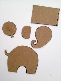 * Jennuine por Rook No. 17 *: Ephemera elefante Cartão Tutorial e Template ~ Um ofício de papel sucata fácil e adorável!