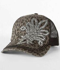 89366ad4 Olive Pique Leopard Rugged Trucker Hat Rhinestone Saints Star Cowgirl Bling  | eBay Cowgirl Bling,