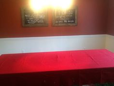Tablecloth Solid RED Rectangle Textured Fabric 96 x 58 inches Washable #Unbranded