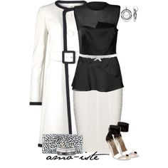 """""""Black & White"""" by amo-iste on Polyvore"""
