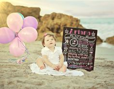 First Birthday Printable Chalkboard Poster Sign for Birthday Parties or Photoshoots - Printable File -  Baby's First Birthday - Boy or Girl