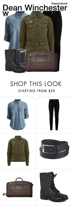 """""""Supernatural"""" by wearwhatyouwatch ❤ liked on Polyvore featuring VILA, Barbour International, Susie in the Sky, Bric's, Pierre Dumas, television and wearwhatyouwatch"""
