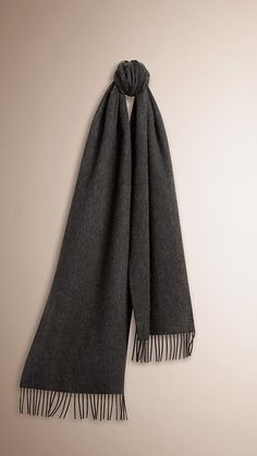Charcoal The Classic Cashmere Scarf Charcoal -  1