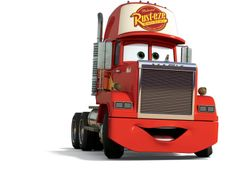 Mack is a character in the Cars movies. He also appears in Radiator Springs racers. Mack is the semi-truck that transports Lightning McQueen and was his best friend. It's his job to get the Piston Cup racer to the next track on time and in comfort. Tow Mater, Disney Tangled, Disney Pixar Cars, Disney Png, Disney Wiki, Red Sox Nation, Displays, Mack Trucks, Semi Trucks