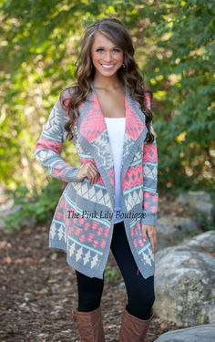 The Pink Lily Boutique - Dream Chaser PINK Cardigan, $42.00 (http://thepinklilyboutique.com/dream-chaser-pink-cardigan/)