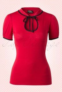 Rock Steady Clothing Keyhole to my heart top red 111 20 14290 20150123 0006W