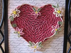 quilling a pretty heart
