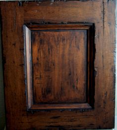 distressed kitchen cabinets | Kitchen Cabinets Painted A Satin Black Then Distressed And Antiqued ...