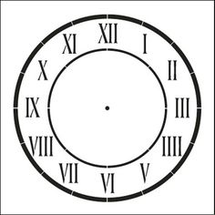 D'Anjou Clock Stencil - - kay deal to start coupon Volkswagen, Stencils, Creative Background, Large Clock, Stencil Designs, Diy Wall Art, Lettering Design, Face Art, French Country Decorating