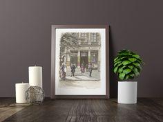 "Excited to share the latest addition to my #etsy shop: Paris Lithograph art: ""THEATRE des VARIETES Bld MONTMARTRE"" Paris art print France art poster wall art Antique decoration French vintage http://etsy.me/2CpnnLh #art #print #lithograph #beige #babyshower #valentines"