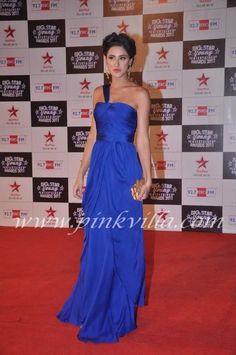 Nargis Fakhri at the the Big Star Young Entertainer Awards Green Carpet, Big Star, Awards, One Shoulder, Formal Dresses, Sexy, Fashion, Green Mat, Dresses For Formal