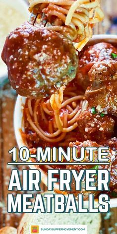 This is THE best meatball recipe - EVER! Air Fryer Meatballs take just 10 minutes to cook and are the best meatballs you will ever eat! Crisp on the outside but perfectly juicy on the inside, they are perfectly cooked and so delicious. Baked Meatballs In Sauce, Air Fryer Recipes Meatballs, Italian Sausage Meatballs, Meatballs And Gravy, Best Meatballs, Meatball Sauce, How To Cook Meatballs, Air Fryer Recipes Easy, Meatball Recipes