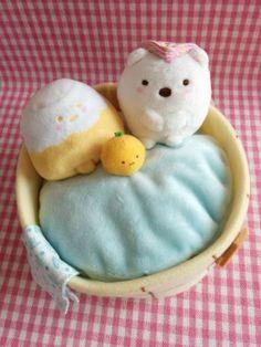 SUMIKKO GURASHI Onsen scene Hot spring Plush toy Shirokuma Penguin SAN-X KAWAII