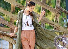 NEW loose linen shirt loose linen dress plus size by YourLinen
