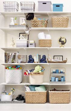 Organization is child's play when you have the right storage bins and boxes for the job.