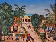Lovely Haitian painting.