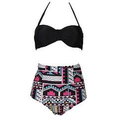 Enjoy your summer, High waist Bathing Suit #women #girl #bikini #swimwear