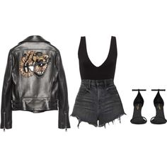 A fashion look from February 2018 featuring Gucci jackets, Alexander Wang shorts and Yves Saint Laurent sandals. Browse and shop related looks.