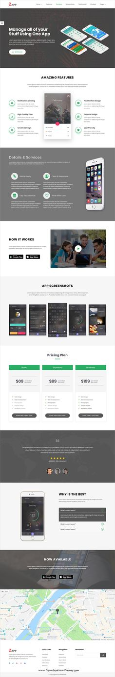 Zapp is clean and modern design responsive #HTML bootstrap #theme for creative apps #landingpages website with 17 unique #homepage layouts to live preview & download click on image or Visit