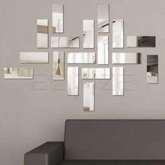 Espelho Decorativo em Acrílico Bricks