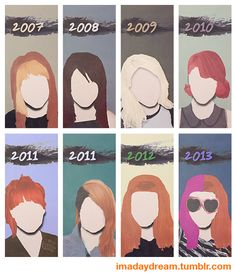 Minimalist Posters - Hayley Williams' hair through the years