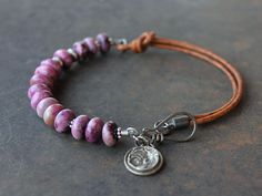 Ultraviolet Purple sugilite silver Bracelet Color of the