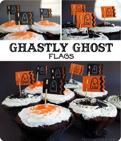 ghost cupcake flags!