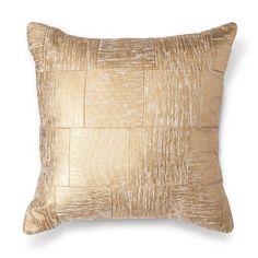 "Cross Hatch Pillow 18"" - Gold - Threshold™"