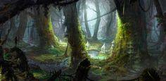 The sanctuary of corrupt elf, hee uk Jung on ArtStation at https://www.artstation.com/artwork/ZJr61