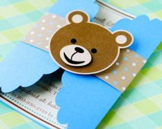 Impress your guests at your next Birthday, Baby Shower, or any party with these unique Teddy Bear invitations! I have created these gate fold Teddy Bear Party, Teddy Bear Baby Shower, Baby Boy Shower, Teddy Bears, Invitation Baby Shower, Invitation Cards, Invites, Baby Shower Invitaciones, Baby Shawer