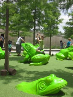 Leapfrog Forest playgroun at Perot Museum of Nature & Science in Dallas lets kids stretch their physical as well as mental muscles.