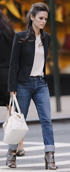 Rachel Bilsen... Perfecto look Casual + chic