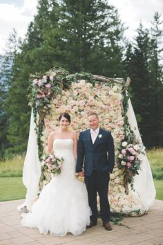 Flower-Filled Mountain Wedding | Calgary Real Mountain Wedding